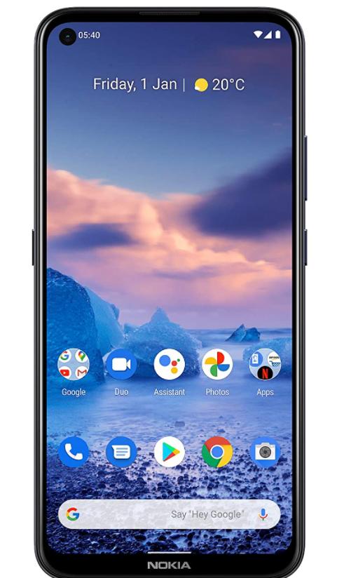Nokia 5.4 | Android 10 | Unlocked Smartphone | 2-Day Battery | Dual SIM | US Version | 4/128GB | 6.39-Inch Screen | 48MP Quad Camera | PolarNight